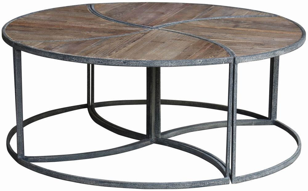Renton Industrial Parquet Top Coffee Table