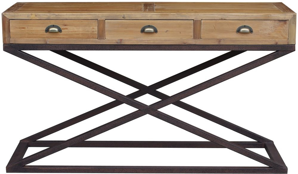 Renton Industrial Reclaimed Pine Console Table