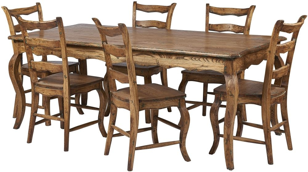 Renton Laredo Oak Dining Table and 6 Ladder Back Chairs
