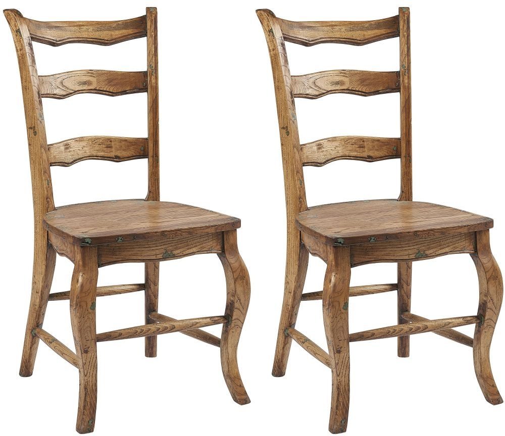 Renton Oak Laredo Ladder Back Dining Chair (Pair)