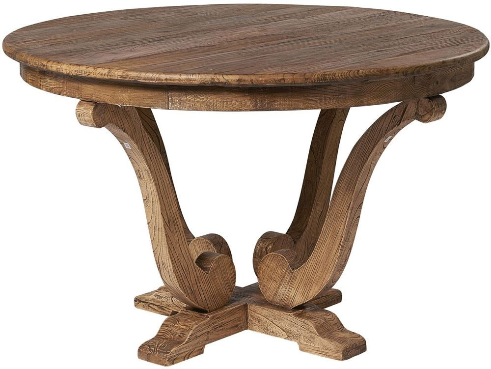 Renton Old Reclaimed Elm Round Dining Table