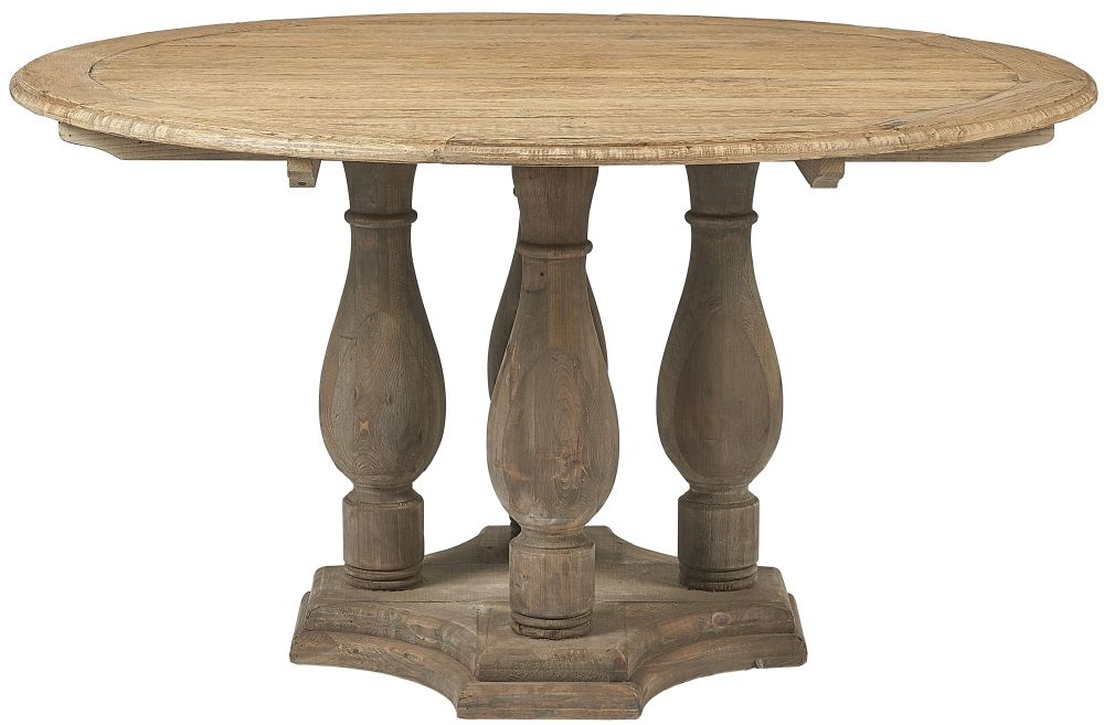 Renton Reclaimed Elm Round Dining Table