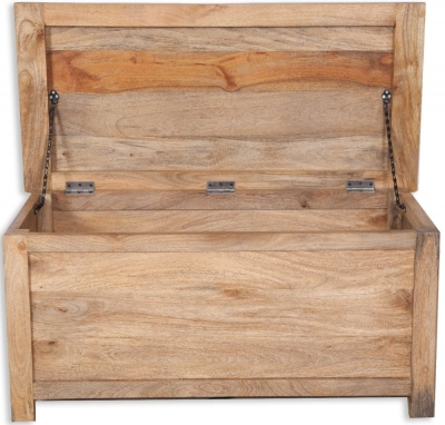 Bombay Oak Blanket Box