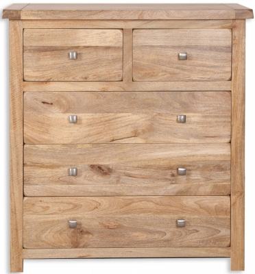 Bombay Oak Chest of Drawer - 2+3 Drawer