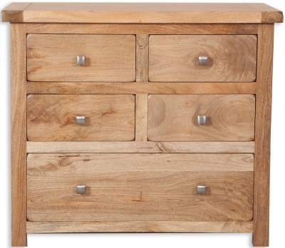 Bombay Oak Chest of Drawer - 4+1 Drawer