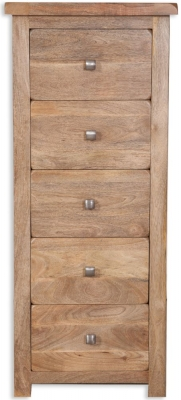 Bombay Mango Wood 5 Drawer Tall Chest