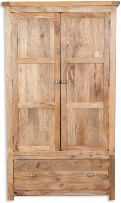 Bombay Oak Wardrobe - 2 Door