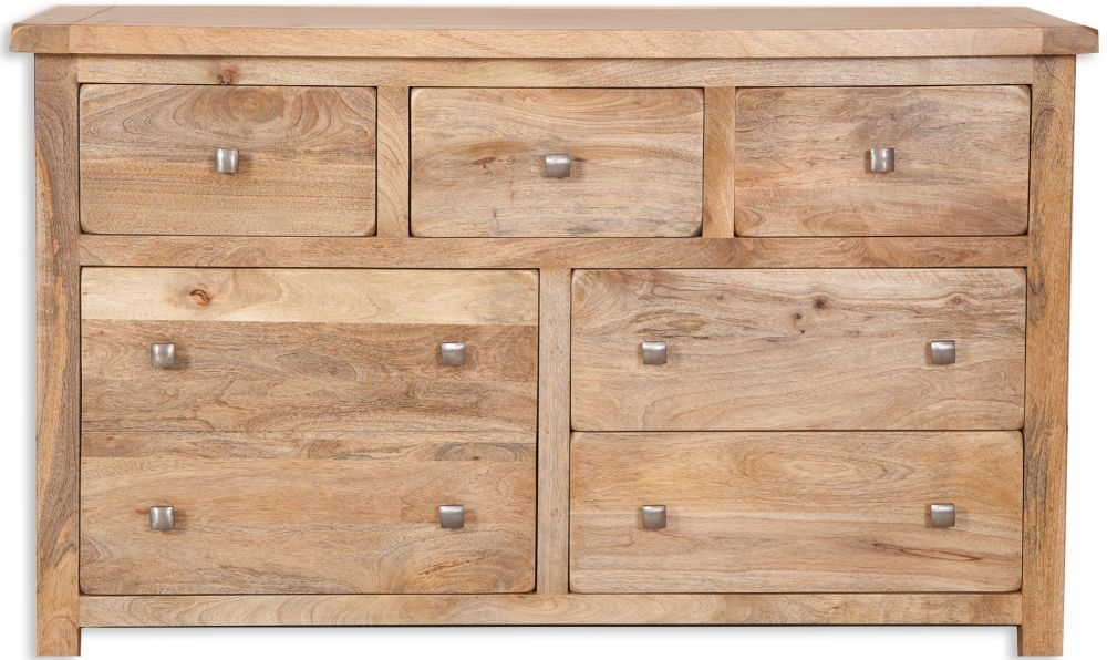 Bombay Mango Wood 7 Drawer Wide Chest