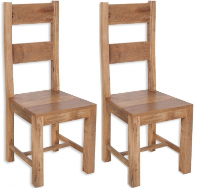 Bombay Oak Dining Chair (Pair)