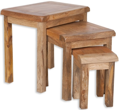 Bombay Oak Nest of Tables