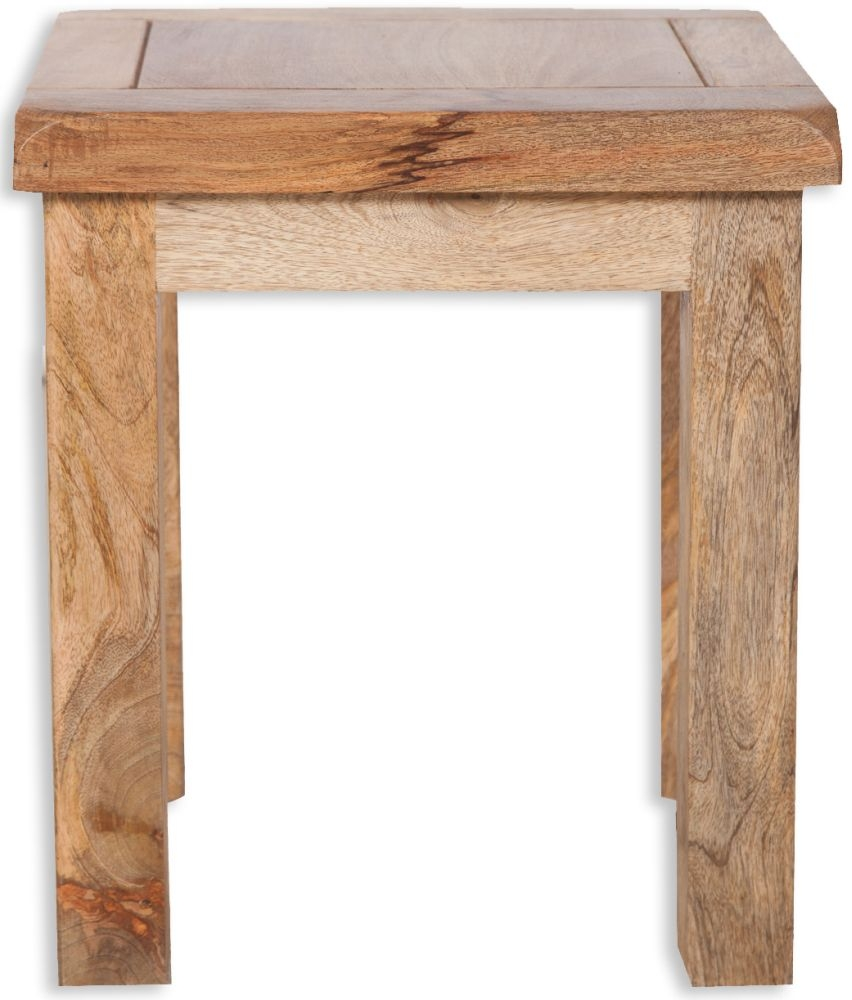 Bombay Oak Lamp Table