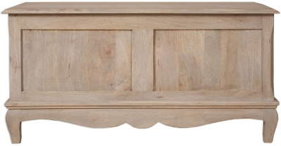 Calais Grey Washed French Style Blanket Box