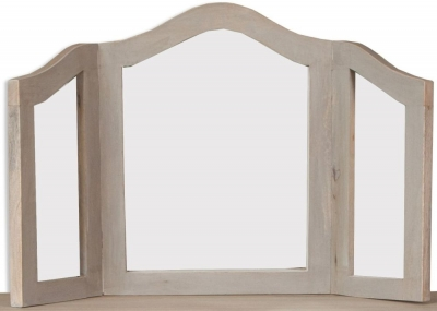 Calais Grey Washed French Style Dressing Mirror