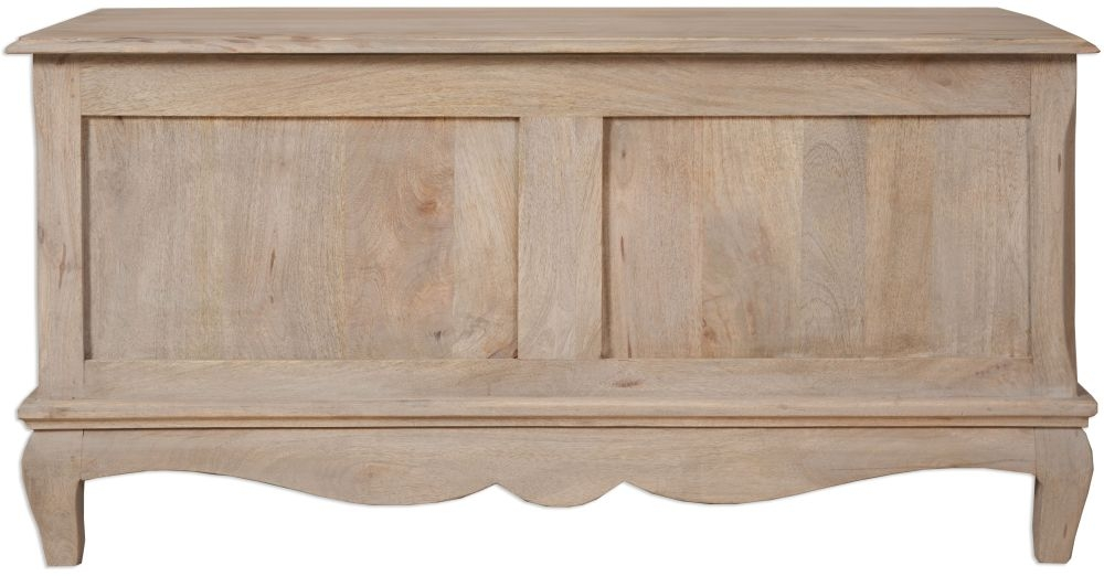 Buy calais french style lime washed blanket box online cfs uk Lime washed bedroom furniture