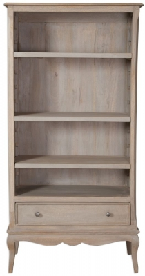 Calais Grey Washed Wide Bookcase