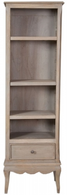 Calais Grey Washed Slim Bookcase