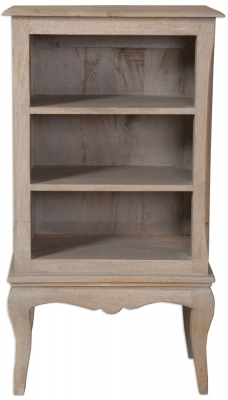 Calais Grey Washed Small Bookcase