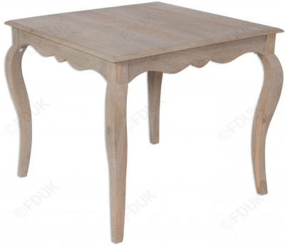 Calais Grey Washed Small Square Dining Table