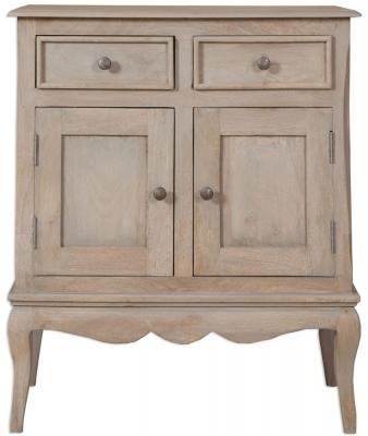 Calais Grey Washed Hall Cabinet
