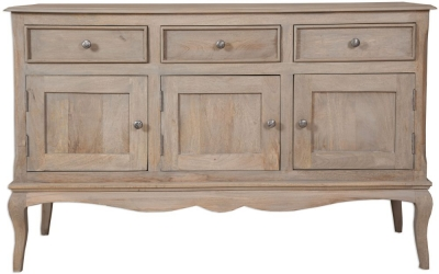 Calais Grey Washed Large Sideboard