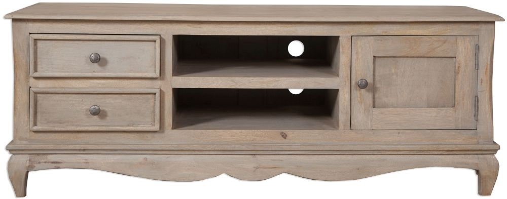 Calais Grey Washed Plasma TV Cabinet