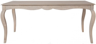Clearance - Calais Grey Washed Large Dining Table - New - FSS9074