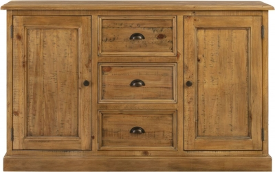 Colorado Distressed 2 Door 3 Drawer Sideboard