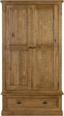 Colorado Distressed 2 Door Wardrobe