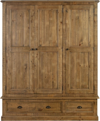 Colorado Distressed 3 Door Wardrobe