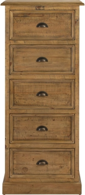 Colorado Distressed 5 Drawer Tall Chest