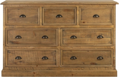 Colorado Distressed 7 Drawer Wide Chest