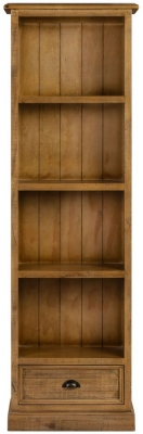 Colorado Distressed Slim Bookcase