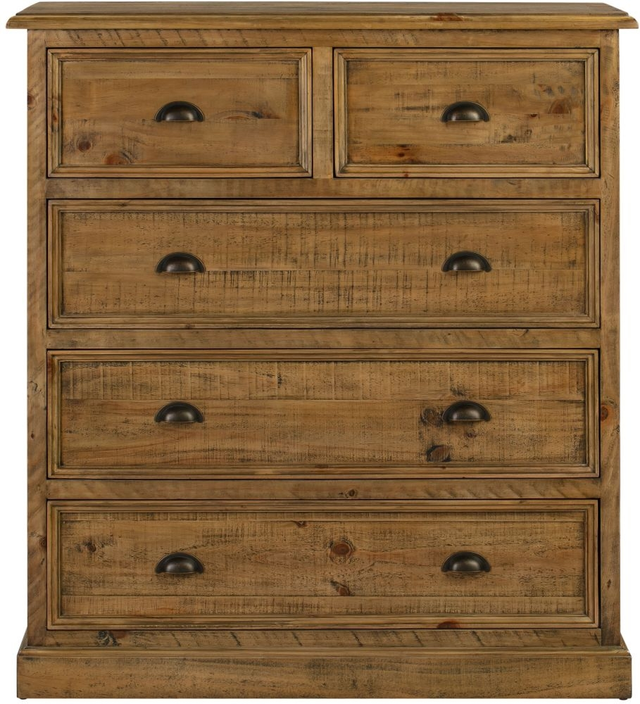 Colorado Distressed 2+3 Drawer Chest