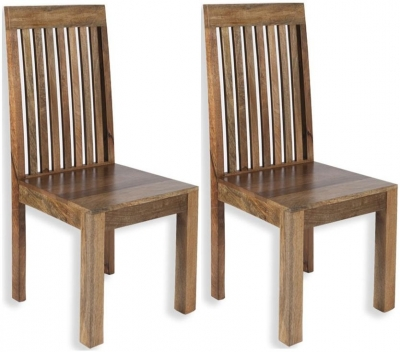 Cuban Petite Mango Wood Dining Chair (Pair)