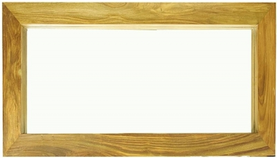 Cuban Petite Mango Wood Rectangular Mirror
