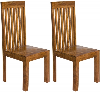 Cuban Petite Sheesham Dining Chair (Pair)