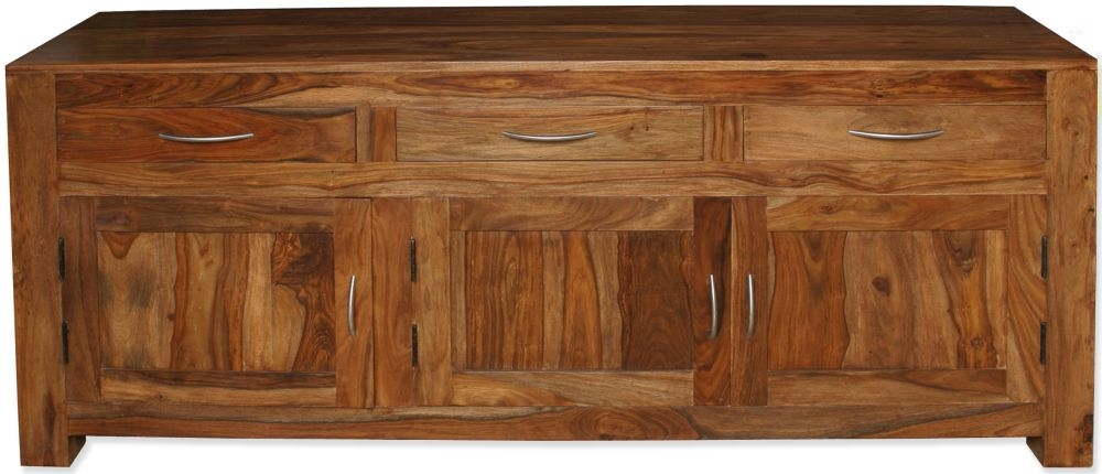 Cuban Petite Sheesham 3 Door Sideboard