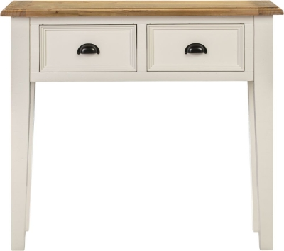 Farmhouse Painted 2 Drawer Console Table