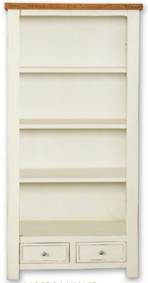 Kaveri Distressed Painted Bookcase - Large