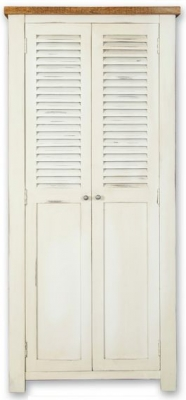 Kaveri Distressed Painted Hall Cabinet - 2 Door