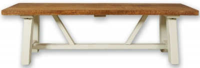 Kaveri Distressed Painted Trestle Bench