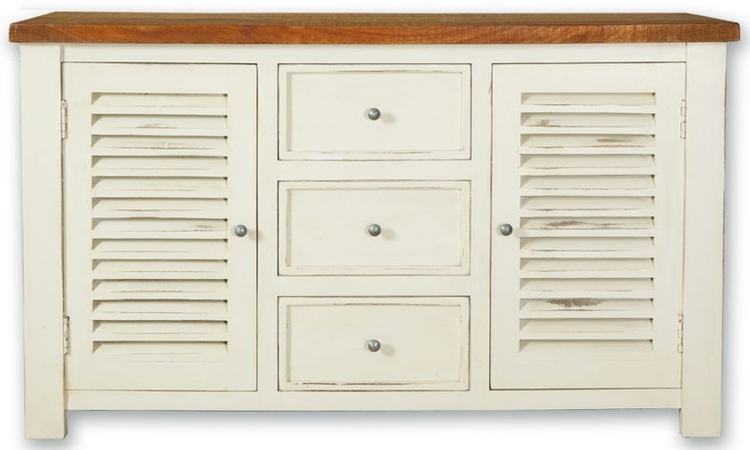 Kaveri Distressed Painted Sideboard - Large