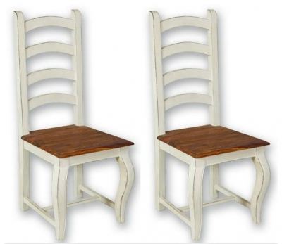Lyon Painted Dining Chair - High Back (Pair)