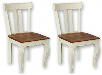 Lyon Painted Dining Chair - Low Back (Pair)