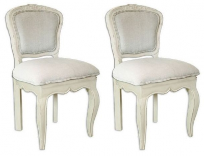 Lyon Painted Dining Chair - Upholstered (Pair)