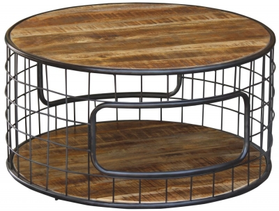 Metro Mango Wood Large Round Coffee Table