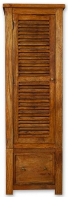 Modasa Mango Wooden Wardrobe - 1 Door 1 Drawer