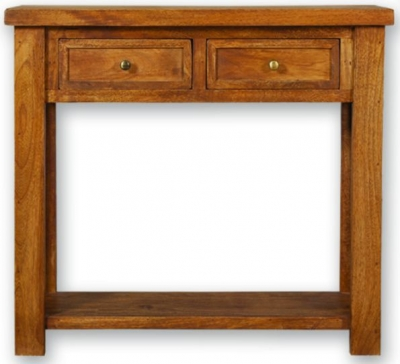 Modasa Mango Wooden Console Table - 2 Drawer