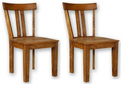 Modasa Mango Wooden Dining Chair - Low Back (Pair)