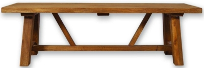 Modasa Mango Wooden Trestle Bench